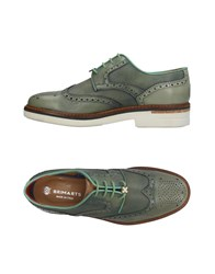 Brimarts Lace Up Shoes Green