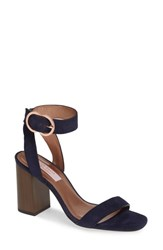 Ted Baker London Vallama Block Heel Sandal Navy Leather