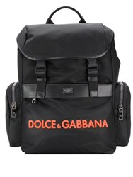 Dolce And Gabbana Structured Backpack Black