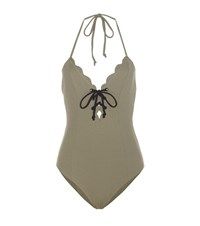 Marysia Broadway Tie Swimsuit Green