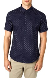 7 Diamonds Casual Fiasco Trim Fit Sport Shirt Navy