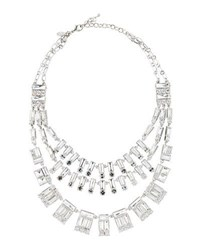 Emily And Ashley Triple Row Crystal Statement Necklace