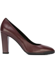 Tod's Chunky Heel Pumps Red