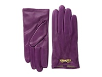 Ted Baker Bowra Metal Bow Leather Gloves Grape Extreme Cold Weather Gloves Purple