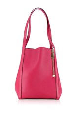 Vbh Cube Extralux Leather Tote Pink