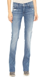 Mother Runaway Skinny Flare Jeans Graffiti Girl
