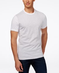 Alfani Red Men's Danny Heather Colorblocked Short Sleeve T Shirt Only At Macy's Bright White Heather