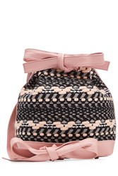 Olympia Le Tan Tweed And Leather Bucket Bag Rose