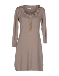 Fracomina Short Dresses Dove Grey