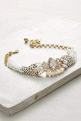 Anthropologie Duality Cascade Choker Necklace White