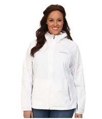 Columbia Plus Size Sweet As Softshell Hoodie White Soft Metal Women's Coat