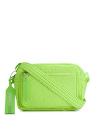 House Of Holland Embroidered Logo Crossbody Bag Green
