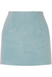 Acne Studios Kyte Alpaca And Wool Blend Mini Skirt Sky Blue