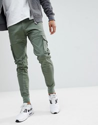 Blend Of America Cargo Trousers Dusty Olive Green