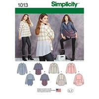 Simplicity 'S Shirt With Fabric Variation Sewing Pattern 1013