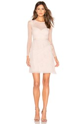 Bcbgmaxazria Pleated Tulle Mini Dress Blush