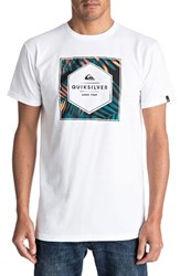 Quiksilver Men's Shady Hex Graphic T Shirt White