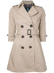 Guild Prime Three Quarter Sleeve Trench Nude Neutrals