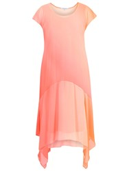 Chesca Ombre Chiffon Dress Orange Coral