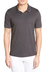 Men's Vince Camuto 'Johnny' Trim Fit Pima Cotton Jersey Polo Charcoal