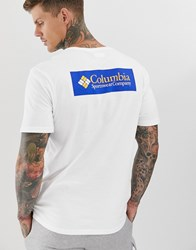 Columbia North Cascades T Shirt In White And Blue