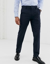 French Connection Slim Fit Trousers Navy