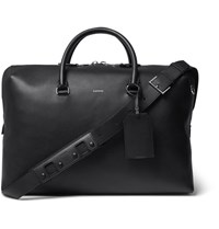 Lanvin Full Grain Leather Holdall Black