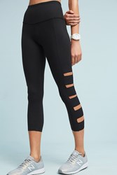Anthropologie Banded Capri Leggings Black