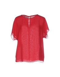 Hope Collection Shirts Blouses Women Brick Red