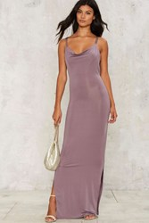 Glamorous Crossback It Up Maxi Dress Purple