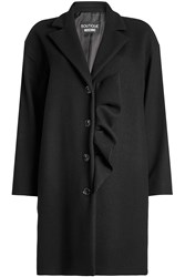 Boutique Moschino Virgin Wool Coat With Ruffle
