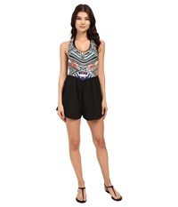 Rip Curl Tribal Myth Romper Black Women's Jumpsuit And Rompers One Piece