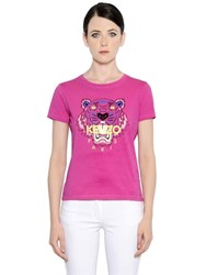 Kenzo Tiger Printed Cotton Jersey T Shirt