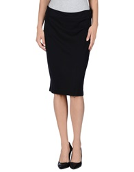 Roccobarocco Knee Length Skirts Black