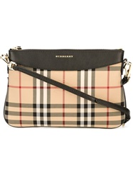 Burberry Horseferry Check Crossbody Bag Nude And Neutrals