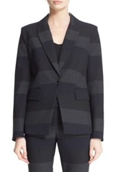 Veronica Beard 'Kanae Khan' Stripe Blazer Gray