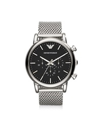 Emporio Armani Classic Black Dial And Stainless Steel Men's Chronograph Watch