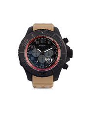 Kyboe Chronograph Stainless Steel Silicone Strap Watch Desert Tan