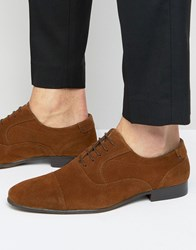 New Look Suede Oxford Shoes In Brown Brown
