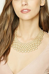 Forever 21 Bead Statement Necklace Gold