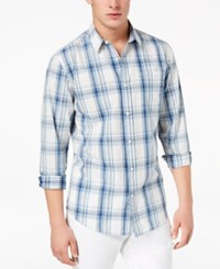 American Rag Men's Miles Plaid Shirt Created For Macy's Blue Isle