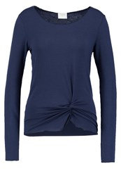 Vila Vikitta Long Sleeved Top Total Eclipse Dark Blue