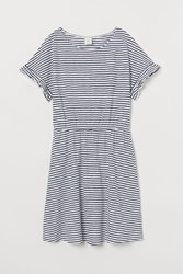 Handm H M Slub Jersey Dress Blue