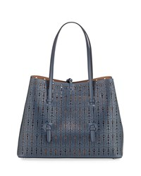 Alaia New Small Cuir Lux Tote Bag Blue