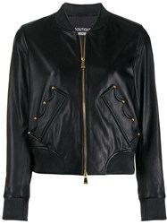 Boutique Moschino Crown Bomber Jacket Black