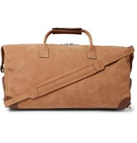 Brunello Cucinelli Leather Trimmed Nubuck Holdall Brown