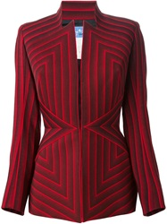 Thierry Mugler Vintage Striped Jacket Red