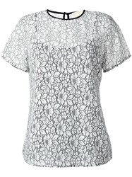 Michael Michael Kors Lace T Shirt White