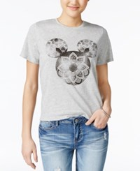 Mighty Fine Disney Juniors' Mickey Mouse Graphic T Shirt By Heather Grey