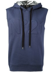 N 21 No21 Sleeveless Hoodie Blue